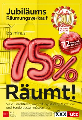 XXXLutz Jubiläums-Räumungsverkauf
