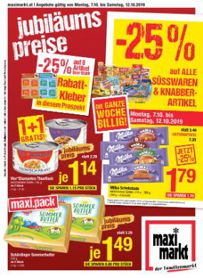 Maximarkt Linz, Haid, Ried, Vöcklabruck, Anif & Bruck