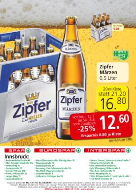 Spar Innsbruck Bieraktion