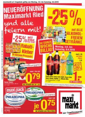 Maximarkt Linz, Haid, Wels, Vöcklabruck, Anif & Bruck