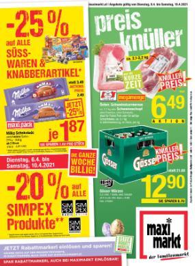 Maximarkt Wels , Ried , Vöcklabruck , Anif & Bruck