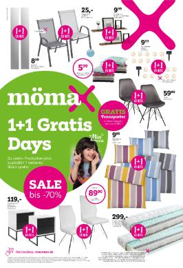 mömax 1+1 Gratis Days