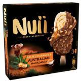 Schöller Nuii Salted Caramel & Australian Macadamia Stieleis 3er