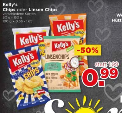 Kelly's Chips oder Linsen Chips