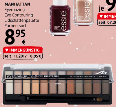 Manhattan Eyemazing Eye Contouring Lidschattenpalette Farben sortiert um € 8,95