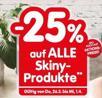 -25% auf alle Skiny-Produkte