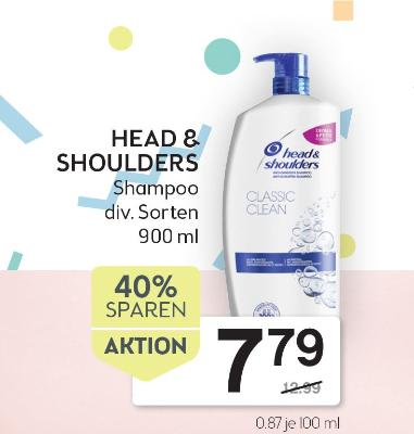 HEAD & SHOULDERS Shampoo div. Sorten 900 ml