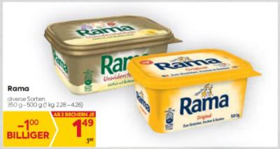 Rama in diversen Sorten um € 1,49