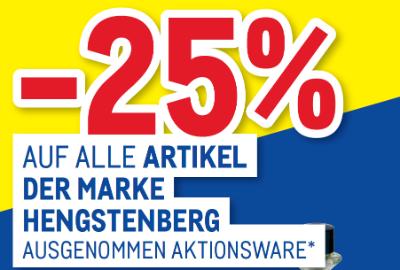 -25% auf alle Artikel der Marke Hengstenberg