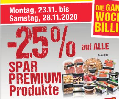 -25% auf Spar Premium Produkte