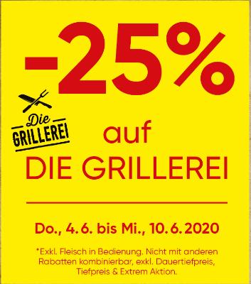 -25% auf die Grillerei