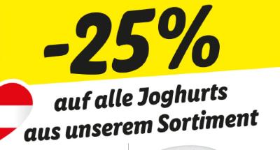 -25% auf alle Joghurts aus unserem Sortiment