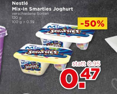Nestlé Mix-In Smarties Joghurt