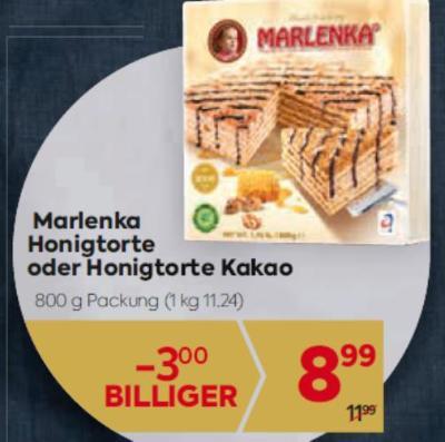Marlenka Honigtorte oder Honigtorte Kakao um € 8,99