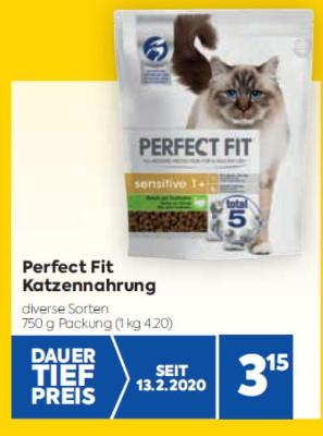 Perfect Fit Katzennahrung in diversen Sorten um € 3,15