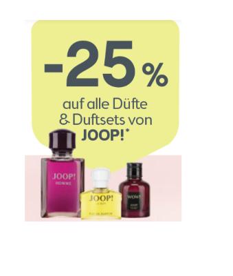 -25% auf alle Düfte & Duftsets von Joop!