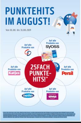 25fach Punkte-Hits auf alle Produkte von CD, syoss, Persil, whiskas, DenTek und  Katjes