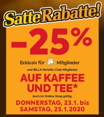 -25% auf Kaffee und Tee