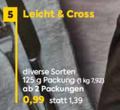 Leicht & Cross in diversen Sorten um € 0,99