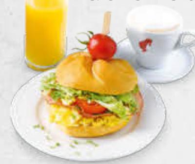 Frühstück Eierspeisesemme