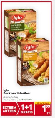 Iglo Backhendlstreifen in diversen Sorten um € 1,99