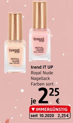 trend IT UP Royal Nude Nagellack Farben sortiert um € 2,25