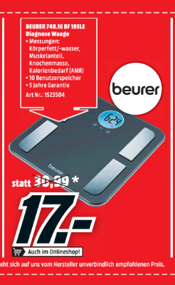 Beurer 748.16 BF 195LE Diagnose Waage