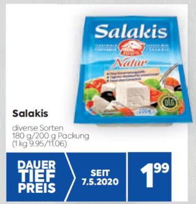 Salakis in diversen Sorten um € 1,99
