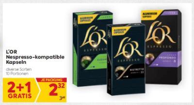 L'OR Nespresso-kompatible Kapseln in diversen Sorten um € 2,32