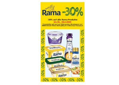 -30% auf alle Rama-Produkte