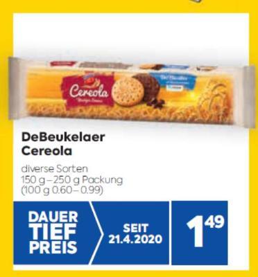 DeBeukelaer Cereola in diversen Sorten um € 1,49