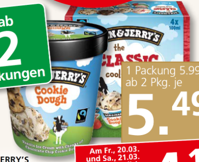 BEN & JERRY'S CLASSIC oder COOLLECTION