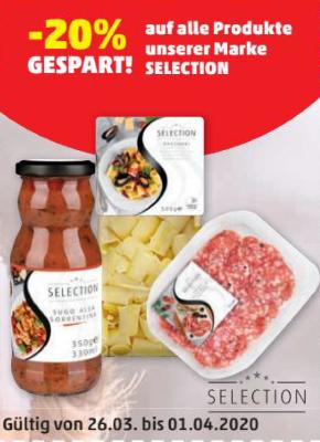 -20% auf alle Produkte unserer Marke Selection