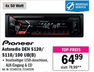 Pioneer Autoradio DEH S120/ S110/100 UB(B) um € 64,99