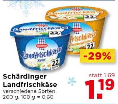 Schärdinger Landfrischkäse verschiedene Sorten um € 1,19