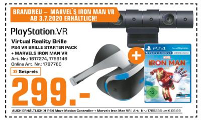 PlayStation VR Virtual Reality Brille + Marvels Iron Man VR um € 299,-