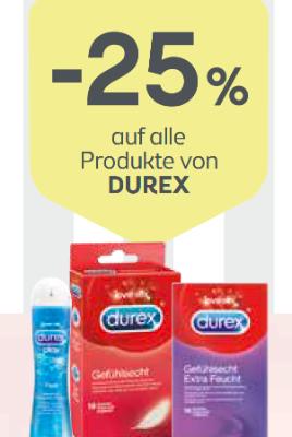 -25% auf alle Produkte von DUREX