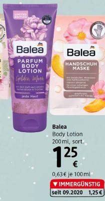 Balea Body Lotion sortiert um € 1,25