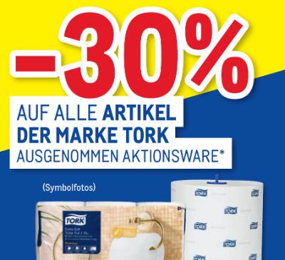 -30% auf alle Artikel der Marke Tork