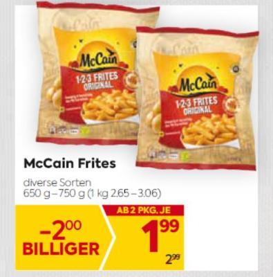 McCain Frites in diversen Sorten um € 1,99