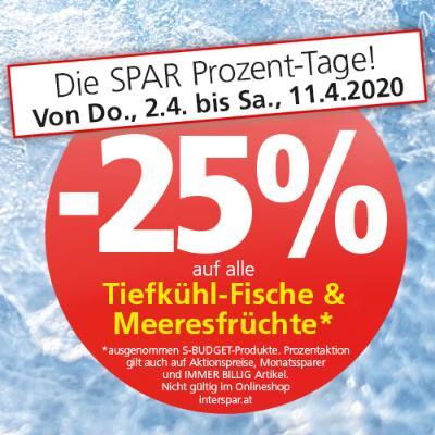-25% auf alle Tiefkühl-Fische und Meeresfrüchte