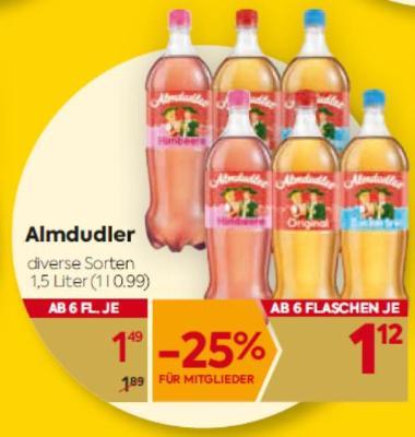 Almdudler Limonade in diversen Sorten um € 1,49