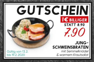 Jungschweinsbraten mit Semmelknödel & warmem Krautsalat