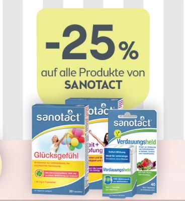 -25% auf alle Produkte von Sanotact