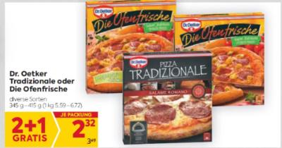 Dr. Oetker Tradizionale oder Die Ofenfrische in diversen Sorten um € 2,32
