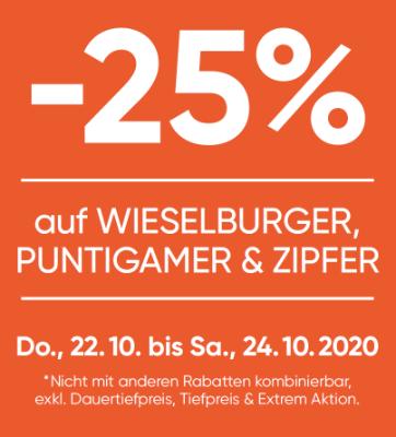 -25% auf Wieselburger, Puntigamer & Zipfer
