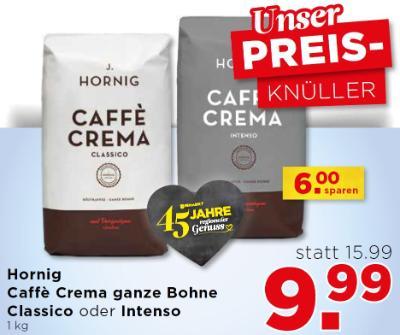 Hornig Caffè Crema ganze Bohne Classico oder Intenso