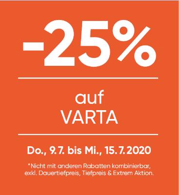 -25% auf Varta