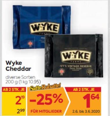 Wyke Cheddar in diversen Sorten um € 2,19