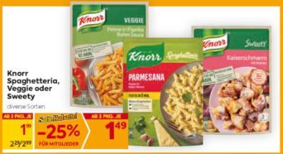 Knorr Spaghetteria, Veggie oder Sweety in diversen Sorten um € 1,99